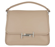 Double T Bag Rose Satchel