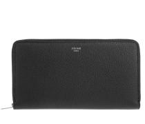 Kleinleder - Large Zipped Multifunction Wallet Black