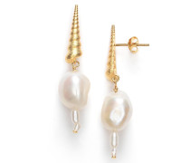 Ohrringe Turret Shell Baroque Pearl Earring Gold
