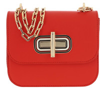 Umhängetasche Turnlock Mini Crossbody Bag Bright Vermillion