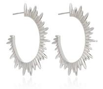 Ohrringe Statement Sunrays Hoops Silver
