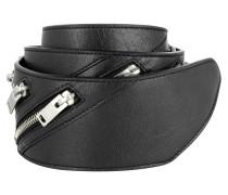 Kleinleder - Leather Belt Multi Zip Black