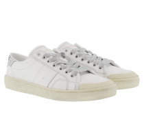 SL/37 Signature Court Glitter Galactica Sneakers Offwhite/Argento Sneakerss