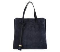 Celene Suede Shopper Bleu/Bleu Umhängetasche