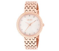 Uhr TLJ1682 Circle Chain Quartz Watch Rosegold