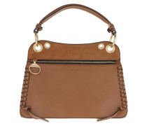 Tote Whipstitch Panelled Bag Leather Caramello