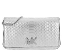 Mott Large Embossed Clutch Silver