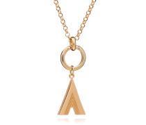 Halskette Oversized Alphabet A Pendant Necklace Yellow Gold