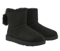 Boots Classic Boot Puff Crystal Bow Black