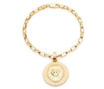 Armband Statement Leo Zodiac Art Coin Bracelet S/M Yellow Gold