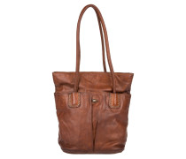 Alta Pence Shopping Bag Cognac Umhängetasche rot