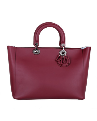 dior damen christian dior tasche lady dior large tote bordeaux in rot henkeltasche f r. Black Bedroom Furniture Sets. Home Design Ideas