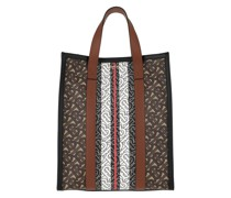 Tote Monogram Striped Small Bag Bridle Brown