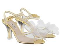 Calzature Donna Vinile Sandale Transparente Sandalen
