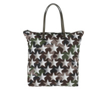 Camouflage Stars Tote Nylon Army Green grün