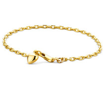 Armband 14KT Heart Bracelet Yellow Gold
