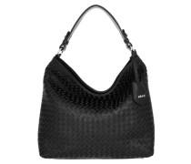 Hobo Bag Bucket Elvi Small Black Nickel