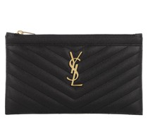 Clutch Monogramme Pouch Leather Nero