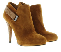 Boots & Booties - Ankle Boot Suede Cognac