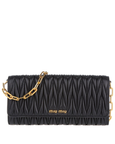 miu miu damen miu miu tasche matelass crossbody leather black in schwarz umh ngetasche. Black Bedroom Furniture Sets. Home Design Ideas