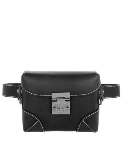 Gürteltasche Soft Berlin Vachetta Belt Bag Small Black schwarz