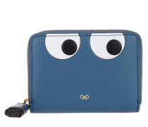 Small Zip Round Wallet Eyes Blueberry Circus