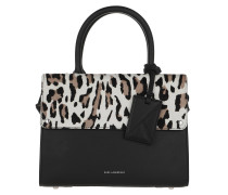 Tote Ikon Leo Small Top Handle White Leopard
