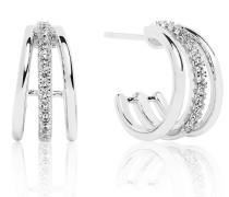 Ohrringe Ozieri Piccolo Earrings White Zirconia 925 Sterling Silver