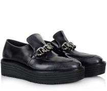 Loafers & Slippers - Slip On With Chain Detail Asfalto