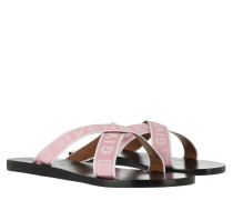Schuhe Logo Strap Sandals Pink White