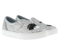 Flirting Glitter Slip-Ons Silver Schuhe