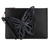 Pouchette Glitter 3D Butterfly Black Clutch