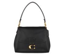Satchel Bag Soft Pebble Leather May Shoulder Black