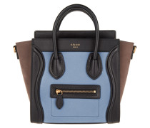 Nano Luggage Handbag Porcelain Tote blau