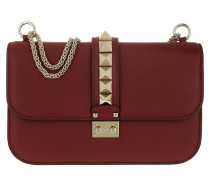 Rockstud Lock Shoulder Bag Medium Red