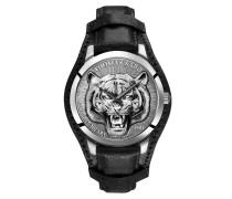 Uhr Men's Watch Rebel Tiger 3D Black/Silver