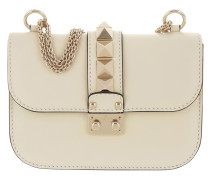 Rockstud Lock Shoulder Bag Small Pastel Yellow Clutch gelb