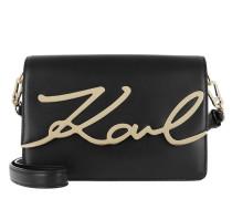 Umhängetasche K/Signature Shoulderbag Black/Gold
