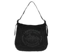 Monospalla Stampa Vela Nero/Nero Hobo Bag