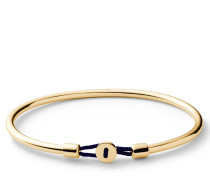 Armband Nexus Cuff Gold Vermeil Polished S Solid Navy