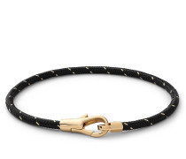 Armband Knox Rope Bracelet Vermeil Polished S Black/Gold