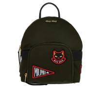 Matelassé Fabric Backpack Militare Rucksack