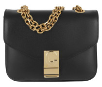 Umhängetasche C Bag Small Shiny Calfskin Black