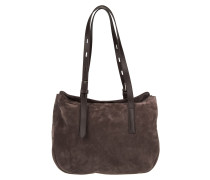 Tasche - Suede Tote Brown