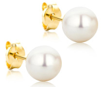 Ohrringe 14KT Pearl Earring Yellow Gold