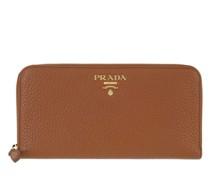 Portemonnaie Zip Around Wallet Cognac