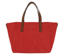 Helena Small Shopper Velluto Stampa Red Umhängetasche