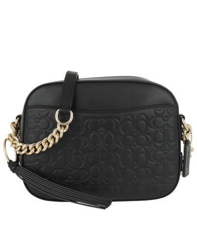 Umhängetasche Signature Leather Camera Bag Black schwarz
