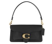 Satchel Bag Polished Pebble Leather Tabby Shoulder 26 Black 2