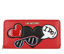 Wallet Love Patches Rosso Portemonnaie